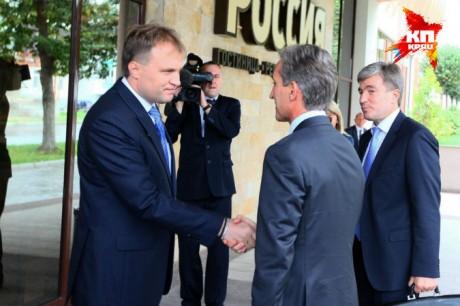Юрие Лянкэ и лидер Приднестровья Евгений Шевчук
