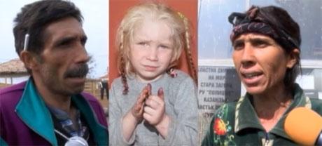В Болгарии нашли родителей белокурой цыганской девочки