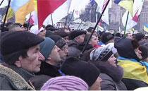 Участники Евромайдана заблокировали правительственный квартал
