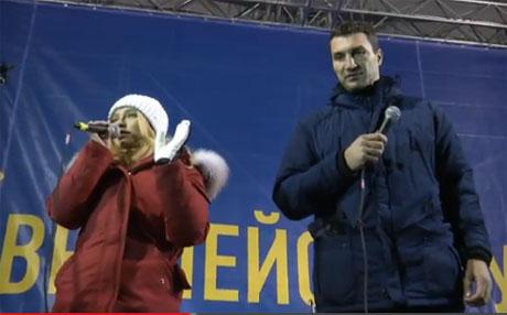Хайден Панеттьери выступила на Евромайдан